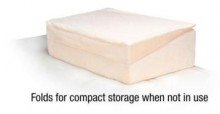 because this wedge can be folded in half it is easy to store when not in use.  Great for homes with little storage space.